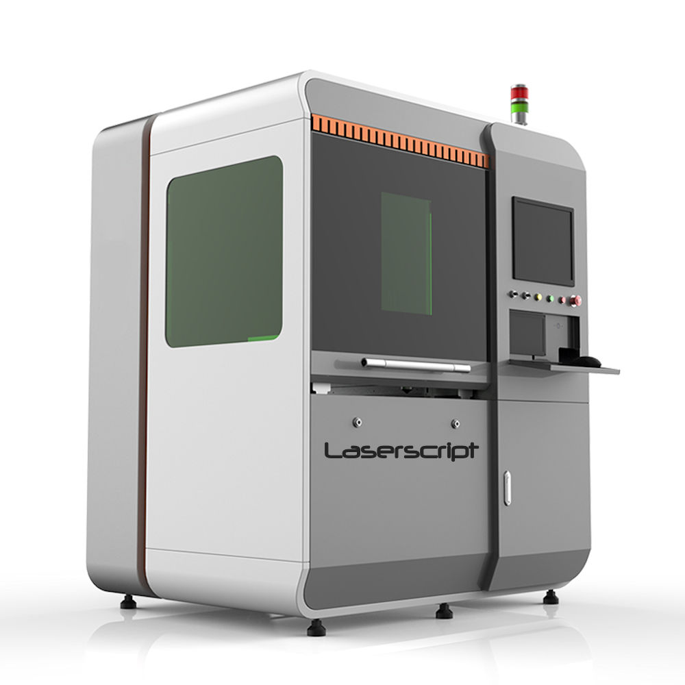 Laserscript LF6040 fibre laser cutting machine closed